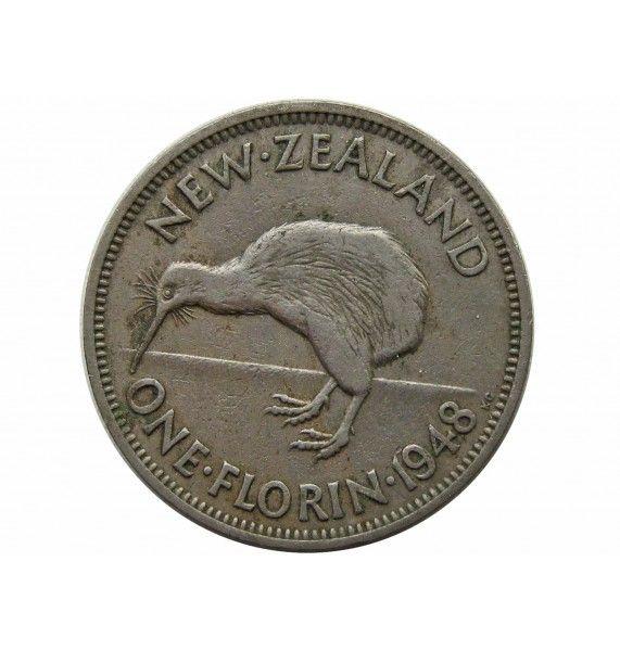 Новая Зеландия 1 флорин 1948 г.
