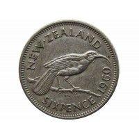 Новая Зеландия 6 пенсов 1960 г.