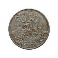Новая Зеландия 50 центов 1979 г.