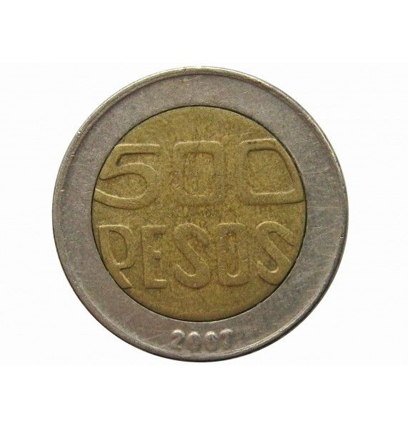 Колумбия 500 песо 2007 г.