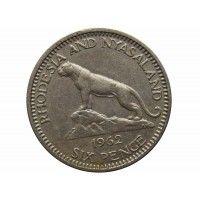 Родезия и Ньясаленд 6 пенсов 1962 г.