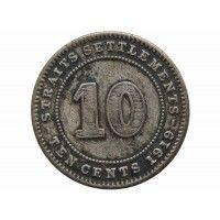 Стрейтс Сетлментс 10 центов 1919 г.