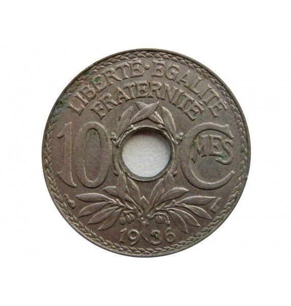 Франция 10 сантимов 1936 г.
