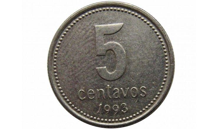 Аргентина 5 сентаво 1993 г.