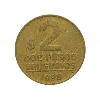 Уругвай 2 песо 1998 г.
