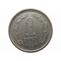 Аргентина 1 песо 1957 г.