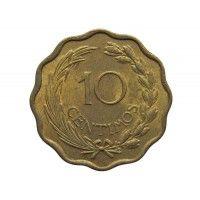 Парагвай 10 сентимо 1953 г.