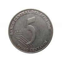 Эквадор 5 сентаво 2000 г.