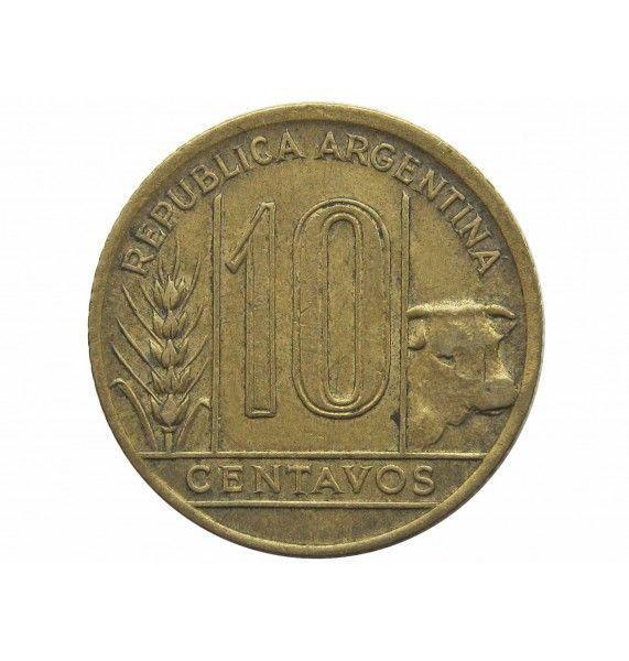 Аргентина 10 сентаво 1943 г.