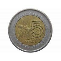 Перу 5 новых солей 1994 г.
