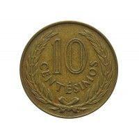 Уругвай 10 сентесимо 1960 г.