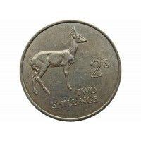 Замбия 2 шиллинга 1964 г.