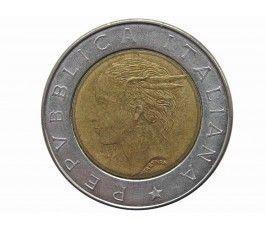 Италия 500 лир 1993 г. (100 лет Банку Италии)