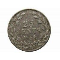 Либерия 25 центов 1968 г.