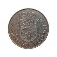 Нидерланды 1 гульден 1980 г. (Коронация королевы Беатрис)