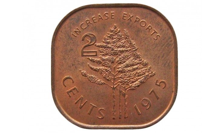 Свазиленд 2 цента 1975 г. (ФАО - Повышайте экспорт)