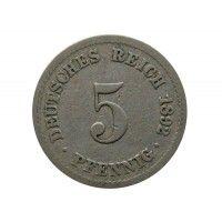 Германия 5 пфеннигов 1892 г. A