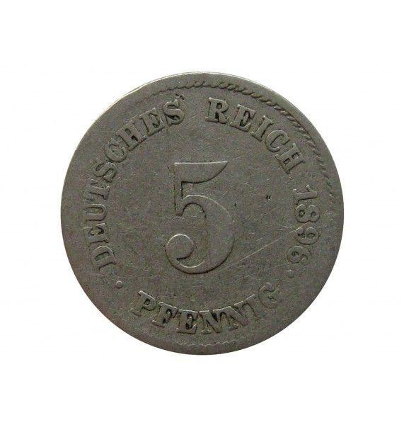 Германия 5 пфеннигов 1896 г. J