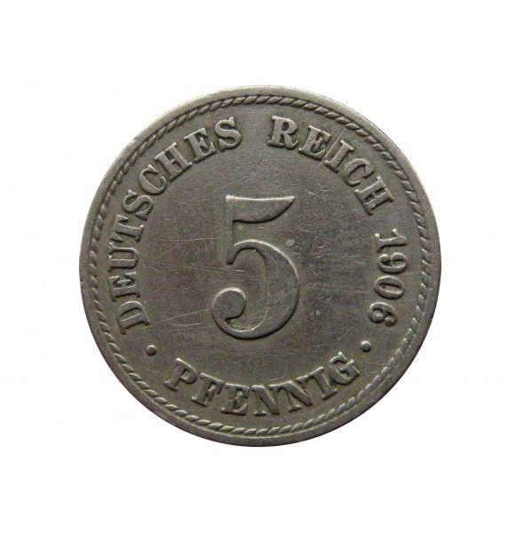 Германия 5 пфеннигов 1906 г. A