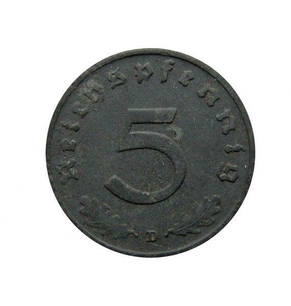Германия 5 пфеннигов 1940 г. D