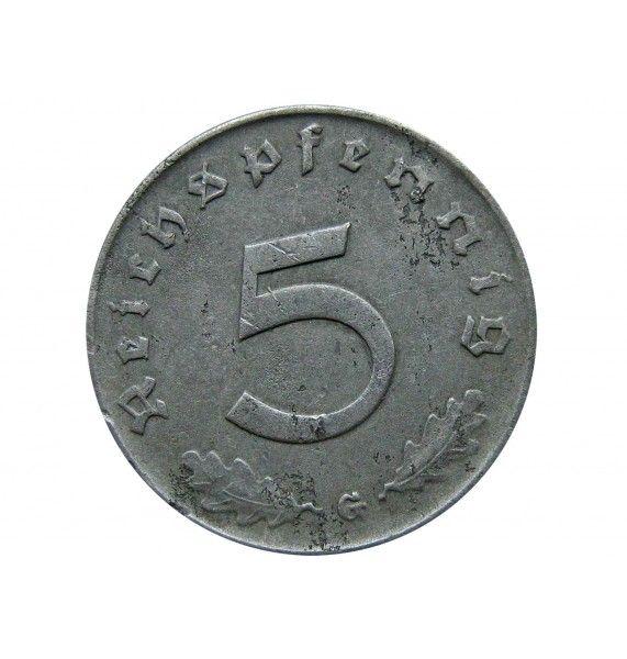 Германия 5 пфеннигов 1940 г. G