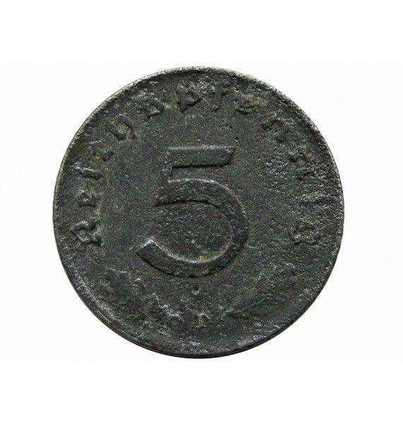 Германия 5 пфеннигов 1944 г. D