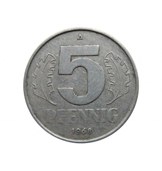 Германия 5 пфеннигов 1968 г. А
