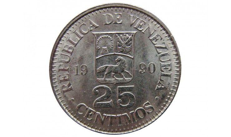 Венесуэла 25 сентимо 1990 г.