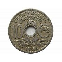Франция 10 сантимов 1934 г.