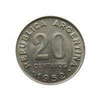 Аргентина 20 сентаво 1952 г.