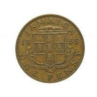 Ямайка 1 пенни 1955 г.
