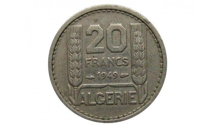 Алжир 20 франков 1949 г.