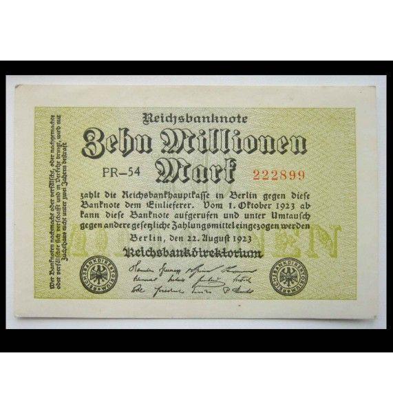 Германия 10 миллионов марок 1923 г.