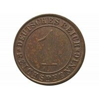 Германия 1 пфенниг (reichs) 1924 г. J