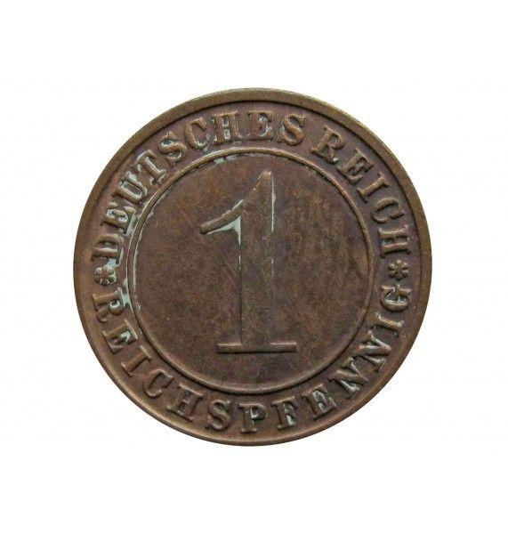Германия 1 пфенниг (reichs) 1929 г. D