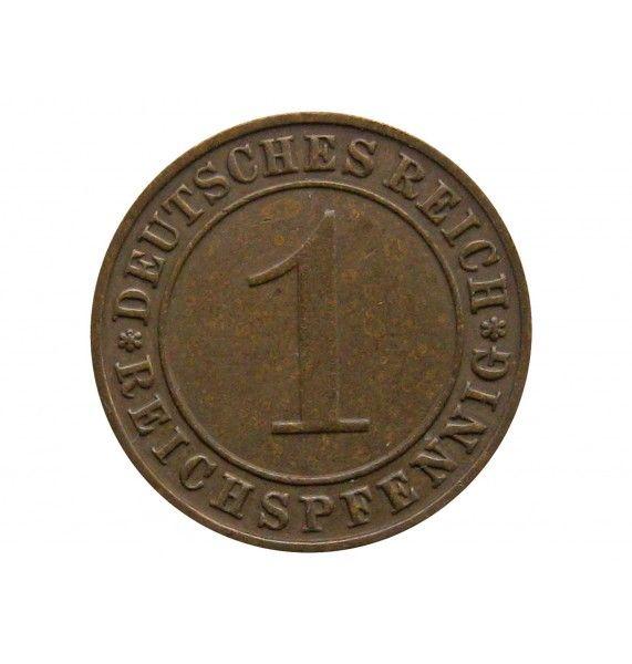 Германия 1 пфенниг (reichs) 1931 г. D