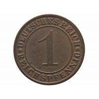 Германия 1 пфенниг (reichs) 1933 г. A