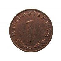 Германия 1 пфенниг 1937 г. D