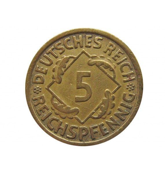 Германия 5 пфеннигов (reichs) 1935 г. A