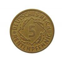 Германия 5 пфеннигов (renten) 1924 г. A