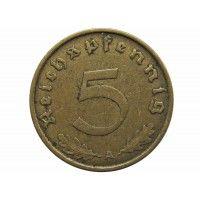 Германия 5 пфеннигов 1937 г. A