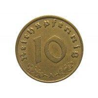 Германия 10 пфеннигов 1937 г. A