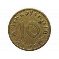 Германия 10 пфеннигов 1938 г. А