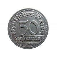 Германия 50 пфеннигов 1921 г. D