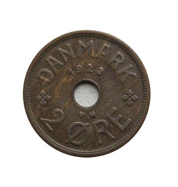 Дания 2 эре 1928 г.