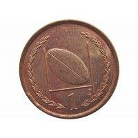Остров Мэн 1 пенни 1996 г. AA