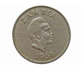 Замбия 6 пенсов 1966 г.