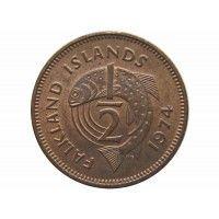 Фолклендские острова 1/2 пенни 1974 г.