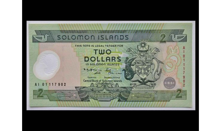 Соломоновы острова 2 доллара 2001 г.