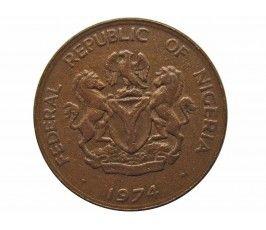 Нигерия 1 кобо 1974 г.